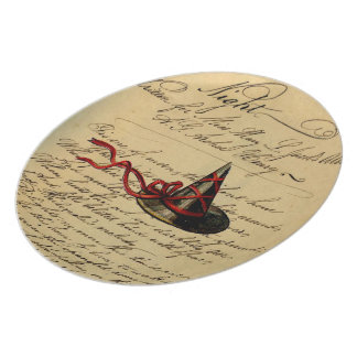Vintage Wicca Chic Witch Hat Night Rhyme Dinner Plate