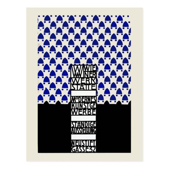Vintage Wiener Werkstaette exhibition ad Postcard
