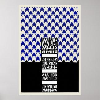 Vintage Wiener Werkstaette exhibition Poster