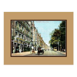 Vintage Wiesbaden Germany Wilhelmstrasse Postcard