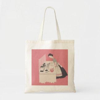 Vintage Wife Baking Tote Bags