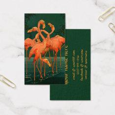 Vintage Wild Animal Birds, Tropical Pink Flamingos Business Card at Zazzle