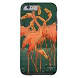 Vintage Wild Animal Birds, Tropical Pink Flamingos Tough iPhone 6 Case