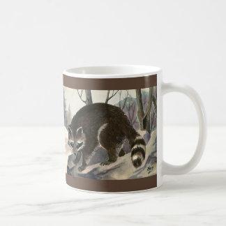 Vintage Wild Animal Forest Creature, Raccoon Mugs