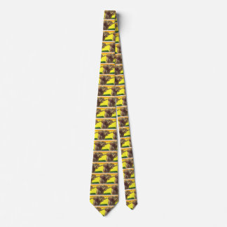 Vintage Wild Animals, African Elephant with Sunset Neck Tie