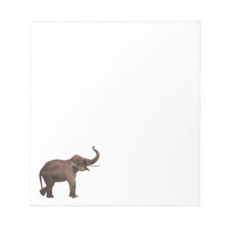 Vintage Wild Animals, Asian Elephant, Good Luck Notepad