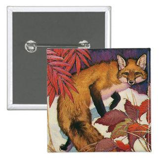 Vintage Wild Animals, Forest Creature, Red Fox Pins