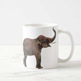 Vintage Wild Animals, Good Luck Asian Elephants Coffee Mug