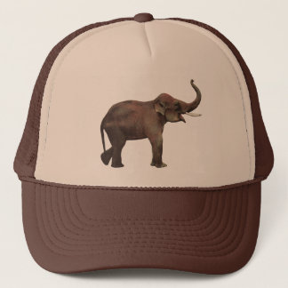 Vintage Wild Animals, Good Luck Asian Elephants Trucker Hat