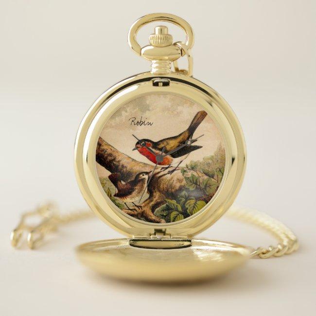 Vintage Wild Bird Illustration with Text
