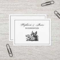 Vintage Wild Boar Head Drawing BW Business Card