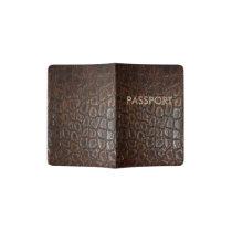 vintage wild crocodile brown alligator leather passport holder