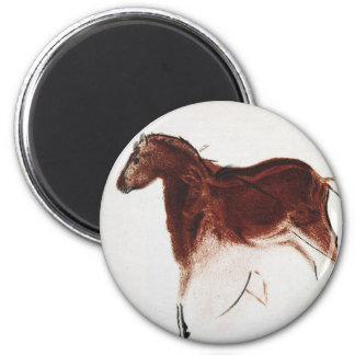 Vintage Wild Horse Cave Painting Fridge Magnet