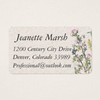 Vintage Wild Licorice Flowers Business Cards