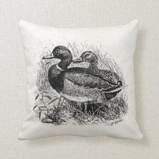 Vintage Wild Mallard Ducks Personalized Template Pillow