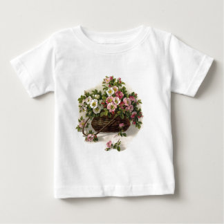Vintage Wild Roses Basket Tee Shirt