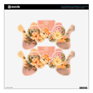 Vintage Wild Roses Sony PlayStation 3 Dualshock 3 Skin For PS3 Controller