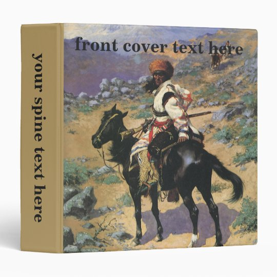 Vintage Wild West, An Indian Trapper by Remington 3 Ring Binder