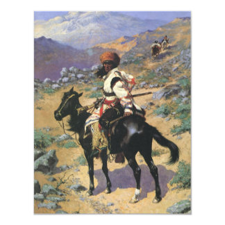 Vintage Wild West, An Indian Trapper by Remington 4.25x5.5 Paper Invitation Card