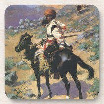 Vintage Wild West, An Indian Trapper by Remington Beverage Coaster