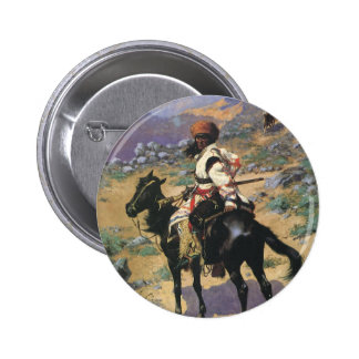 Vintage Wild West, An Indian Trapper by Remington 2 Inch Round Button