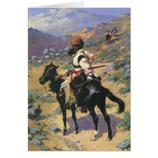 Vintage Wild West, An Indian Trapper by Remington Card