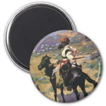 Vintage Wild West, An Indian Trapper by Remington Magnet