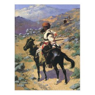 Vintage Wild West, An Indian Trapper by Remington Postcard