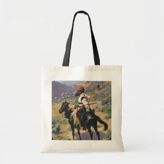 Vintage Wild West, An Indian Trapper by Remington Tote Bag
