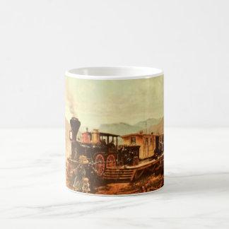 Vintage WIld West Old Train Locomotive 1800's Coffee Mug