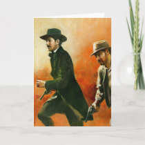 Vintage Wild West Outlaw Greetings Card