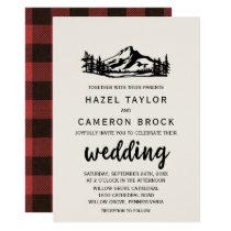 Vintage Wilderness | Buffalo Plaid Wedding Card