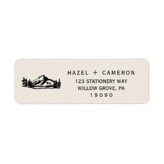 Vintage Wilderness Wedding Label