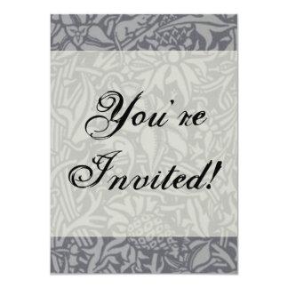 Vintage Wildflower Art Nouveau Thistle Design 4.5x6.25 Paper Invitation Card