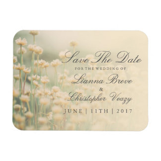 Vintage Wildflower Boho Wedding Save The Date Magnet