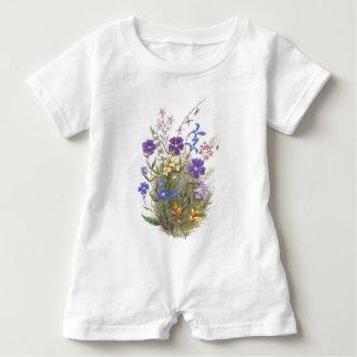 Vintage Wildflowers Baby Romper