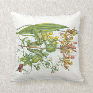 Vintage Wildflowers Honeysuckle Pillow Pillows