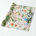 Vintage Wildflowers Pattern Gift Wrap