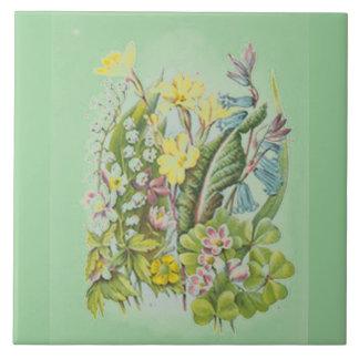 Vintage Wildflowers Tile