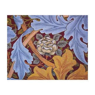 Vintage William Morris Acanthus Design Stretched Canvas Print