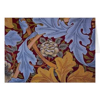 Vintage William Morris Acanthus Design Card