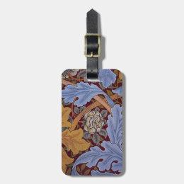 Vintage William Morris Acanthus Design Luggage Tag