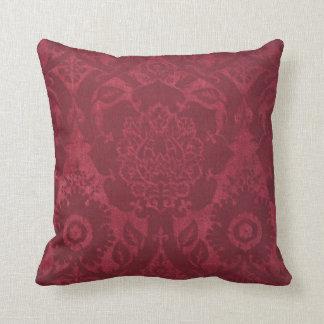Vintage William Morris Acorn Embossed Velvet Throw Pillow