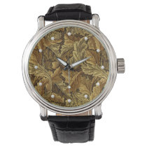 Vintage William Morris autumn leaves pattern Watch