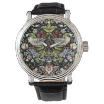 Vintage William Morris birds and flowers pattern Wristwatch