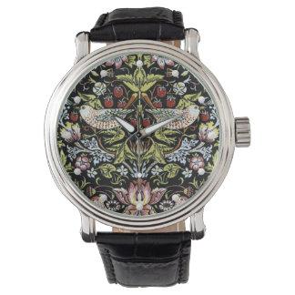 Vintage William Morris birds and flowers pattern Wristwatch