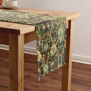 Vintage William Morris Bullerswood Carpet Short Table Runner