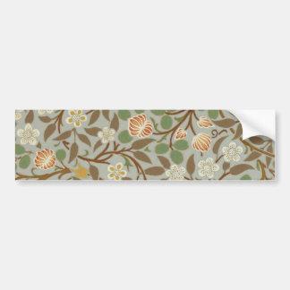 Vintage William Morris Clover Floral Design Bumper Sticker