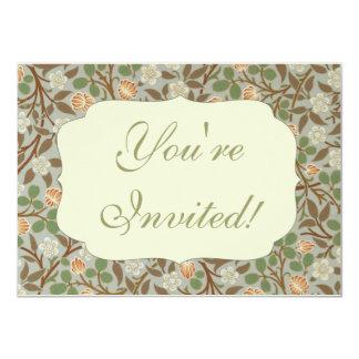 Vintage William Morris Clover Floral design Card