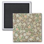 Vintage William Morris Clover Floral Design Refrigerator Magnets